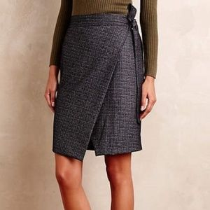 NWT Anthropologie Maeve Crosby Wrap Skirt LP L